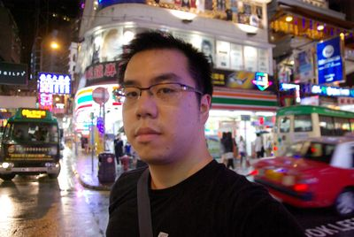 Autoportrait de Cédric à Causeway Bay
