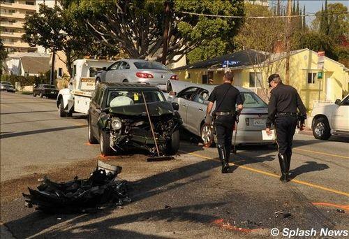 david arquette accident pictures. Arquette car crash. David