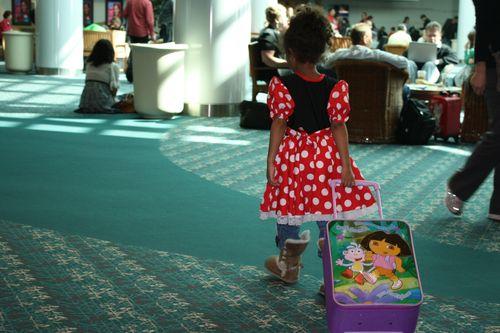 Ma fille à l'aéroport d'Orlando