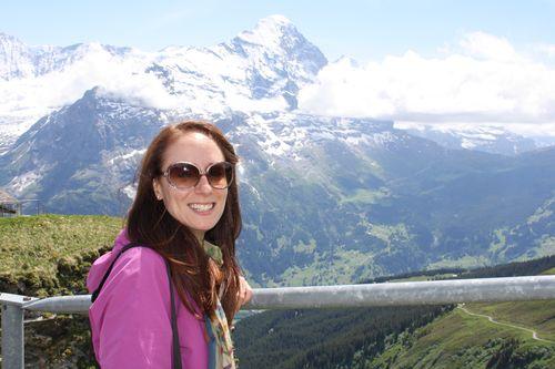Marie-Julie dans les Alpes