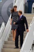 Prince William and Kate Middleton, the Duke and Duchess of Cambridge, arrive at Macdonald-Cartier International Airport in Ottawa , where they are greeted by the Minister of Foreign Affairs, the Honourable John Baird and Mrs