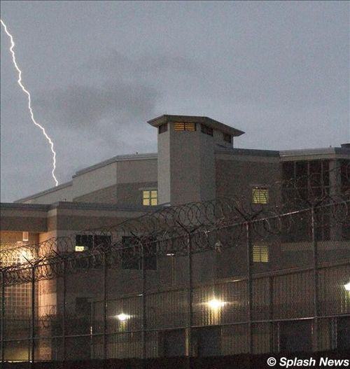 Lightning was seen striking over the Orange County jail on the eve of her ...