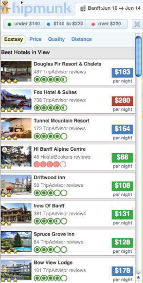 Hipmunk hotels Banff