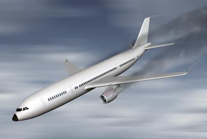 Crashing plane