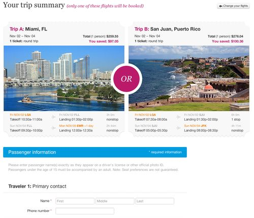 5 - Payment page - Miami San Juan - OR