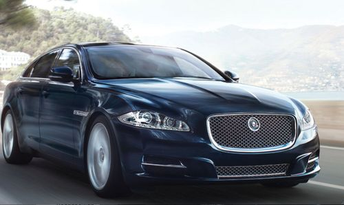 Jaguar drives around