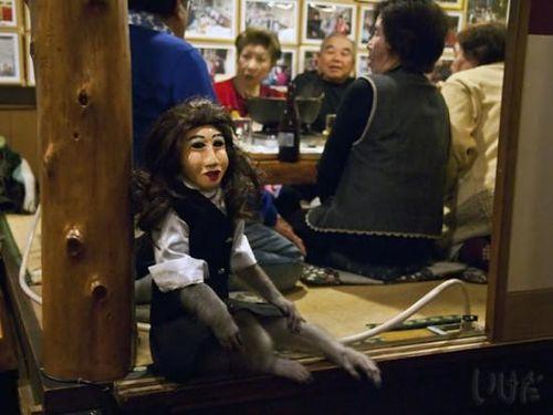 Girl monkey customers